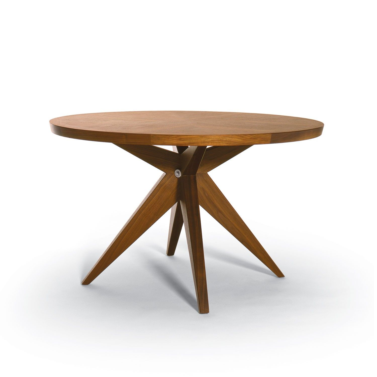 Modern Dining Table Round Oval Dining Room Furniture Modern Brown Polished  Round Teak With Eased Edge