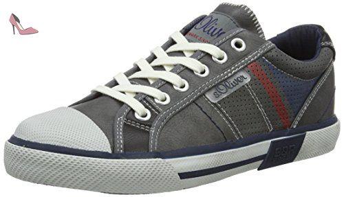 s.Oliver 15203, Sneakers Hautes Homme, Bleu (Navy), 43 EU