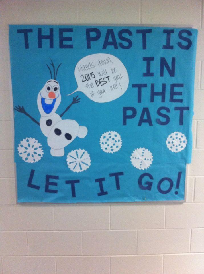 RA Frozen bulletin board for the new year. | Frozen ...