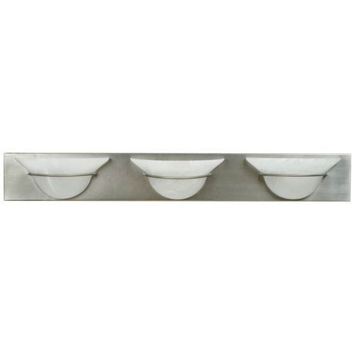 Photo of Craftmade 17136BN3 Moonglow Three-Light Bath Fixture in Brushed Nickel Chrome – Brushed, Contemporary & Modern | Bellacor