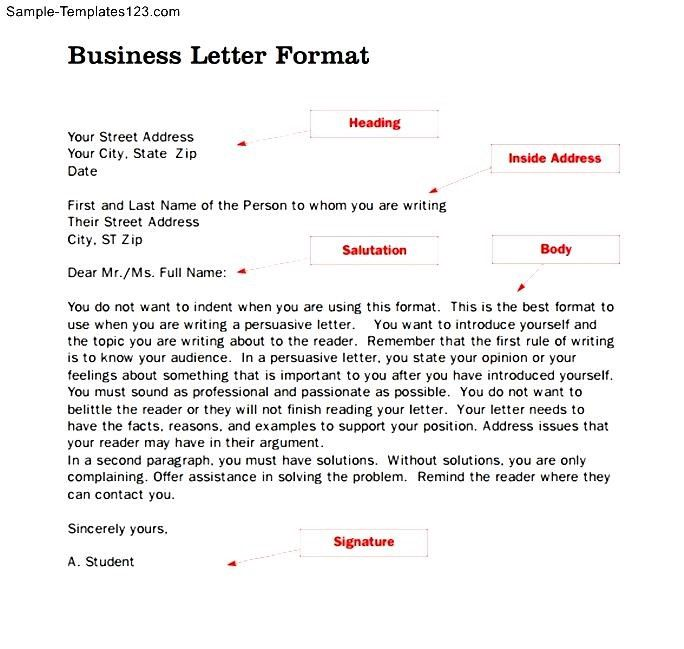 awesome cover letter format example professional business template - business letter sample word