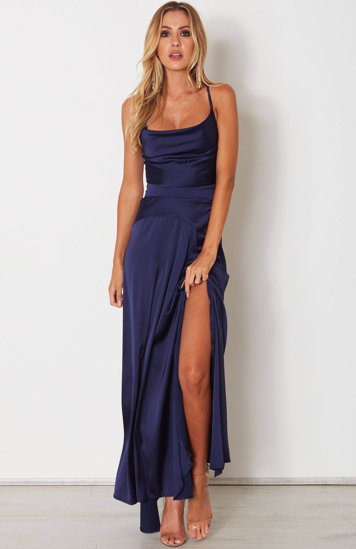 d3a1a3ae Camilla Maxi Dress Navy | White Fox | Dresses, White maxi dresses ...