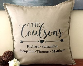 Custom Last Name Est Pillow Home Decorations Farmhouse Decor Throw Pillow Cover Personalized Family Last Name Pillow Cover