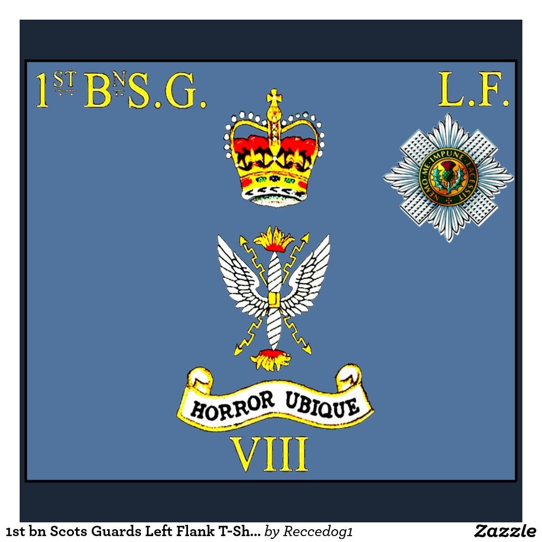 Scots guards 1st battalion Left Flank company colours flag
