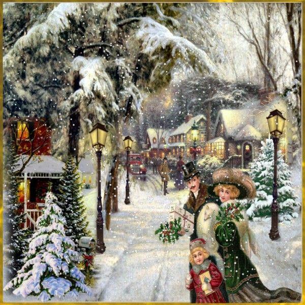 victorian christmas scenes - photo #8