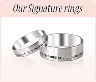 Signature Wedding Rings www.taylormaderings.co.uk
