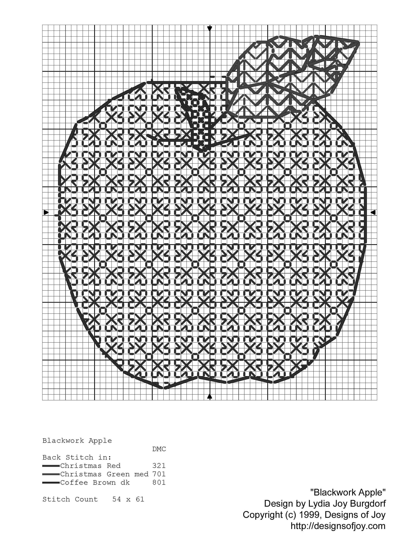 Blackwork Apple | Blackwork | Pinterest | Bordado, Puntos de bordado ...