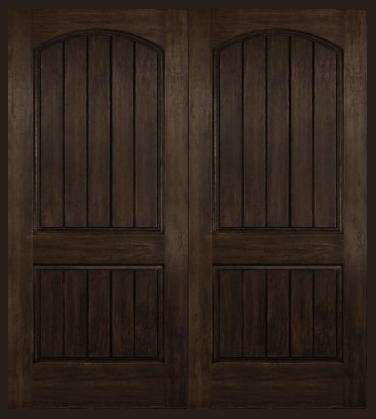 Arch Plank Square Top Rustic Fiberglass Double Door | Church ...