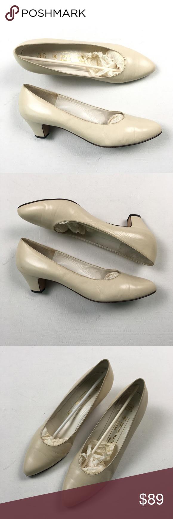 1c5f6748d Bruno Magli Womens Cream Heels 9 A26 Pre owned Bruno Magli Shoes Heels