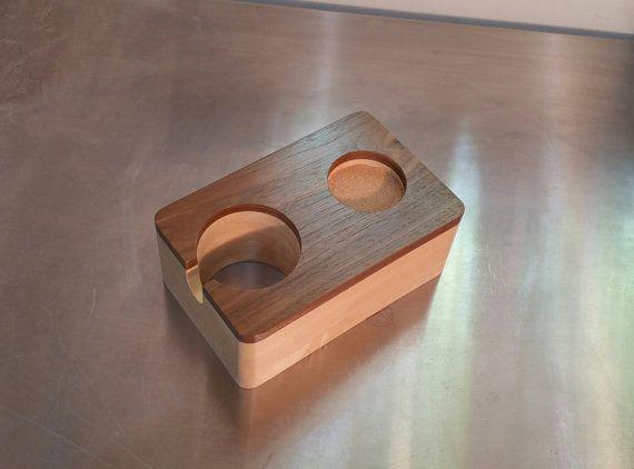 oak wood Handcrafted tamper station