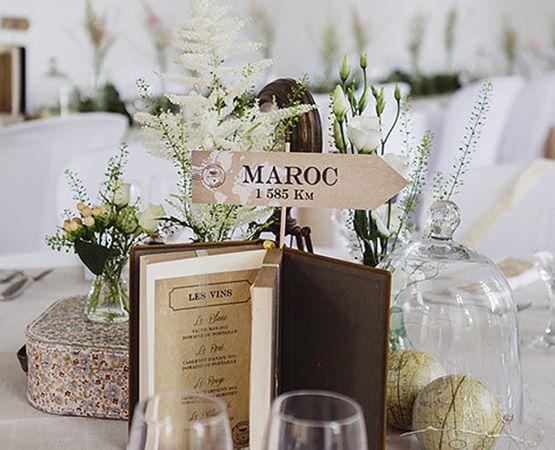 Idee originale noms de tables mariage theme voyage panneau for Table originale