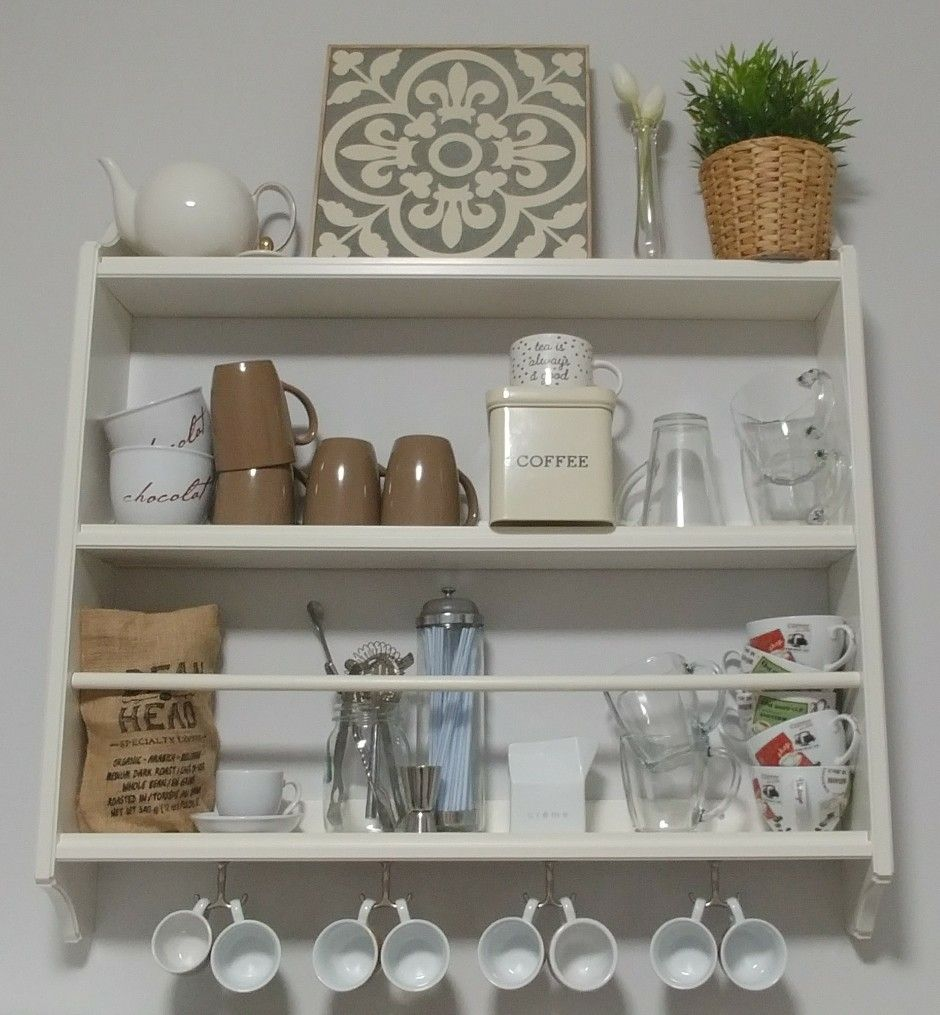 Turn An Ikea Stenstorp Plate Shelf Into Coffee Bar Storage Display Shelves Inredning Kok