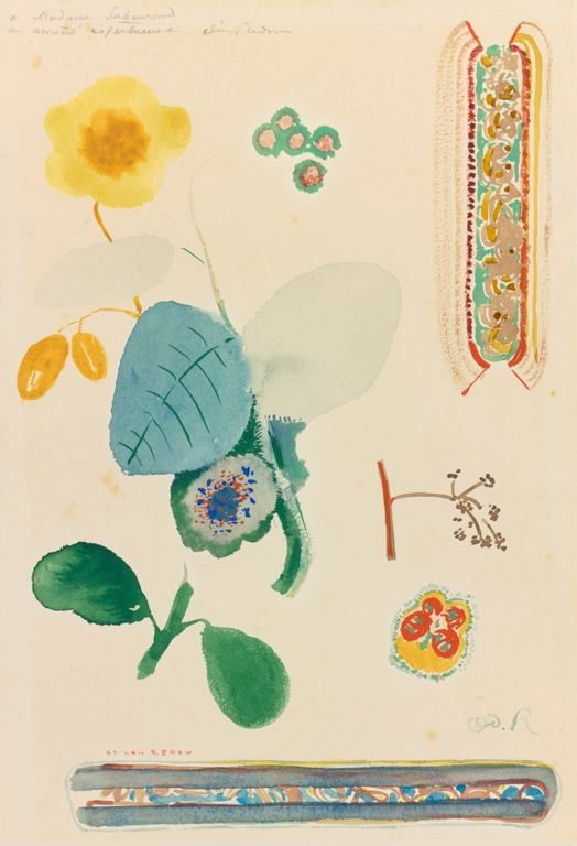 Odilon Redon (1840 -1916) - Sheet analysis: Flowery branch ...