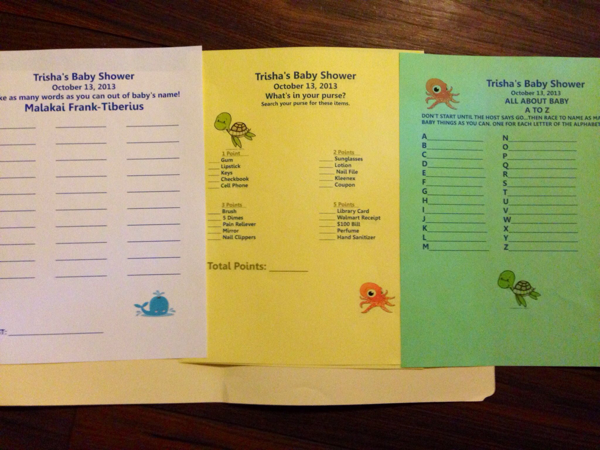 Easy To Recreate Baby Shower Games Laid Back Quiet Sit Back And Relax Kind Of Fun Paper And