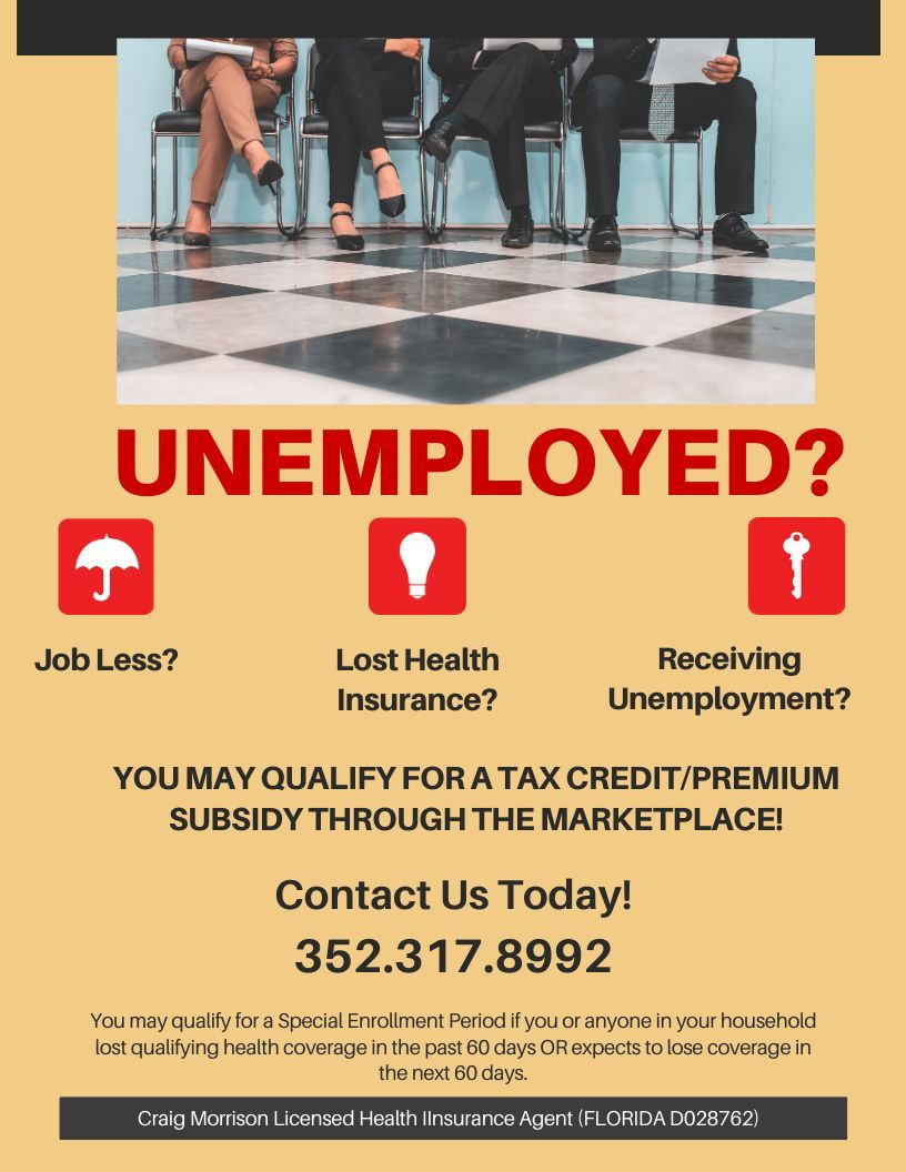 Attention Unemployed People In Florida There Are Health Coverage