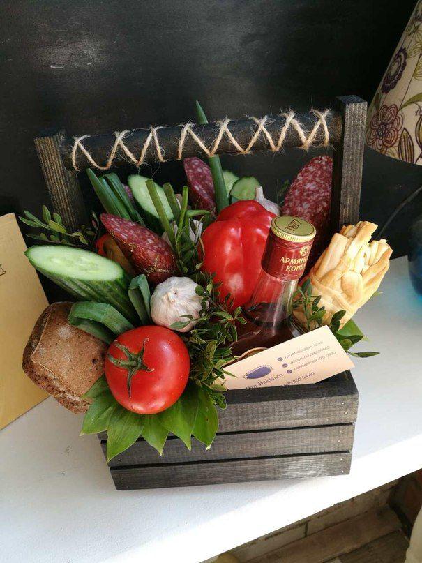 фотография деревянные боксы продуктовые подарки овощной
