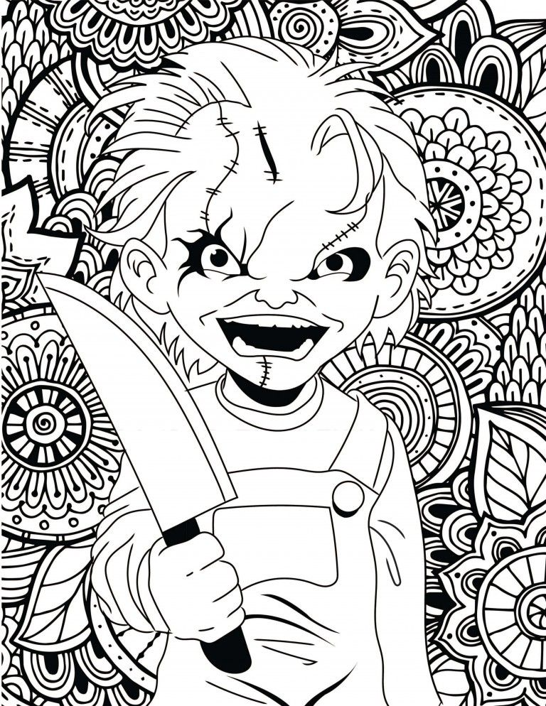 Horror Movies Printable Coloring Pages Halloween Coloring Pages Printable Halloween Coloring Halloween Coloring Pages