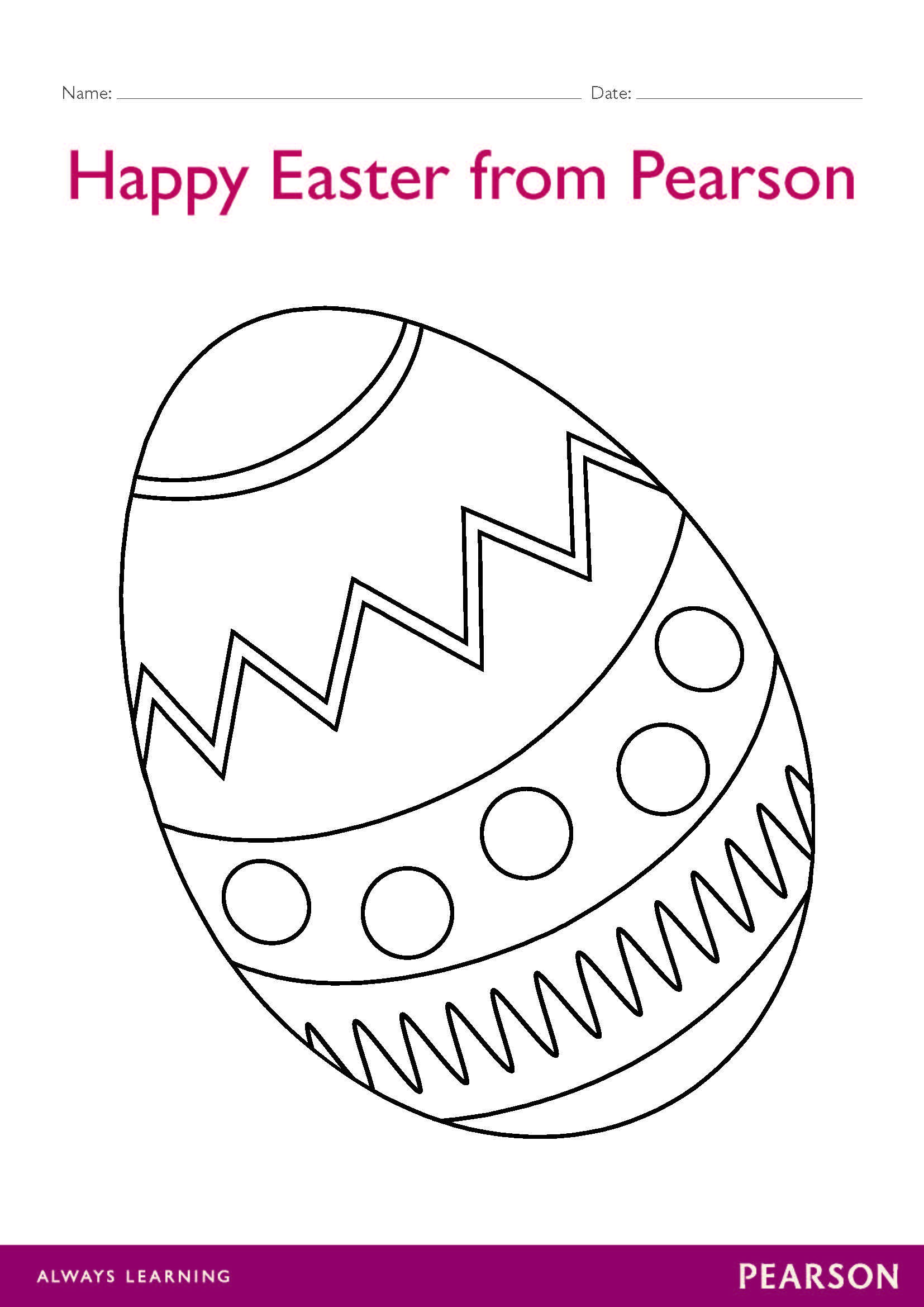 Free Easter Egg Colour In Worksheet Download This