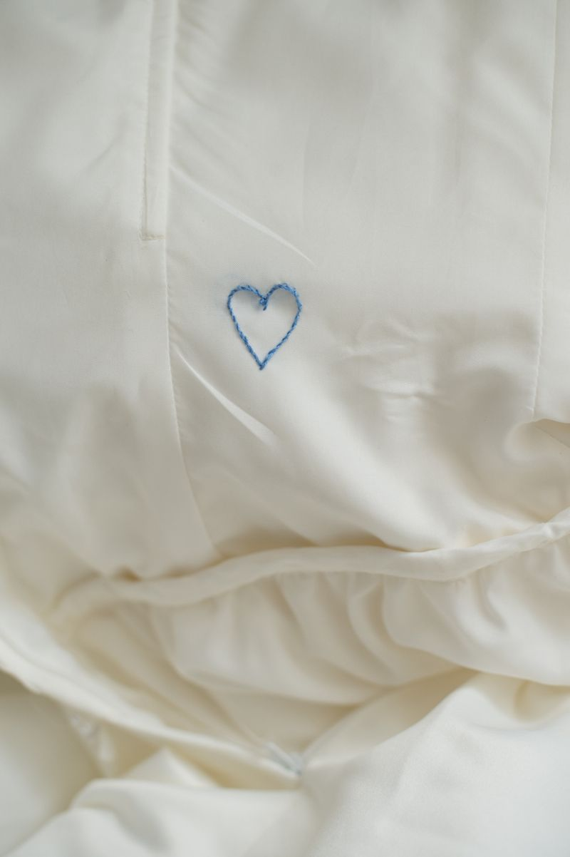 How to sew inside of wedding dress diy embroidered wedding date and
