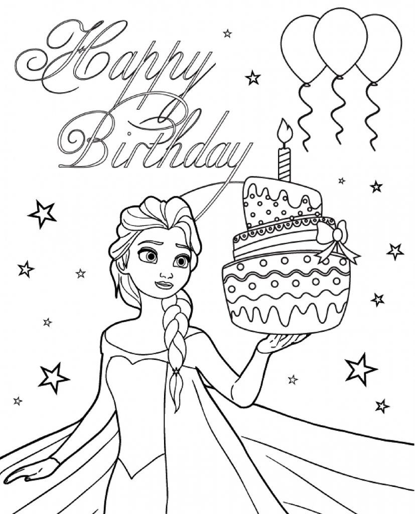Printable Birthday Card Coloring Pages 101 Activity Happy Birthday Coloring Pages Birthday Coloring Pages Elsa Coloring Pages