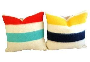 Hudson's  Bay     Blanket Pillows,  Pair $249.00 by One Kings Lane