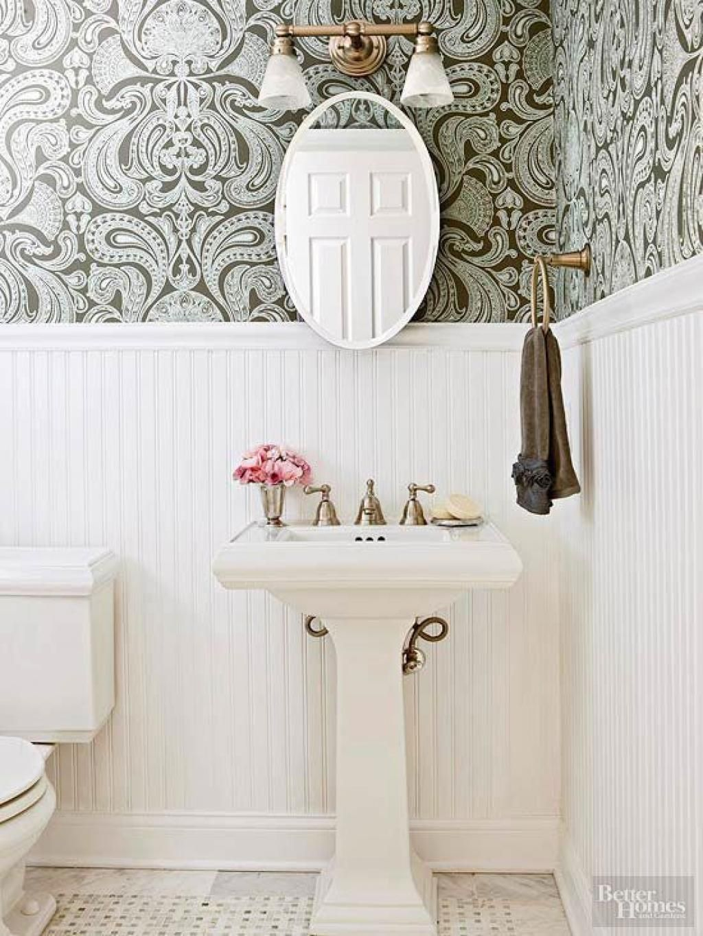 40 Stylish Bathroom Wallpaper Ideas Inspirations | Bathroom ...