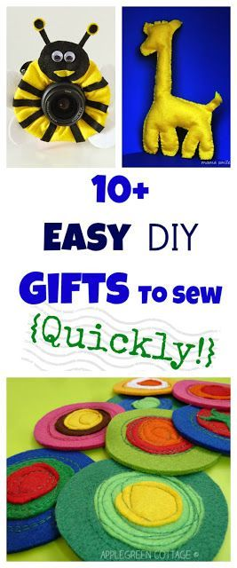 10+ Easy Presents To Sew {Quickly!} | Craft, Sewing projects and ...