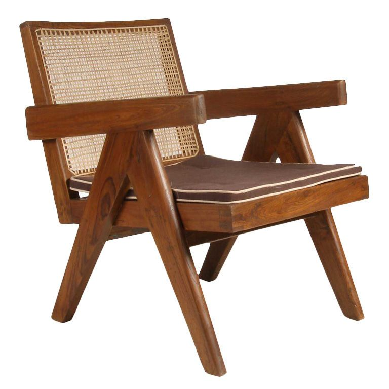 Pierre Jeanneret Caned Teak Easy Chair Chandigarh India – Pierre Chair