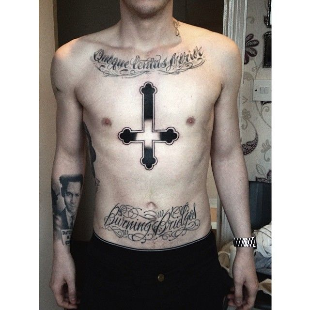 cross religious by me tattoos