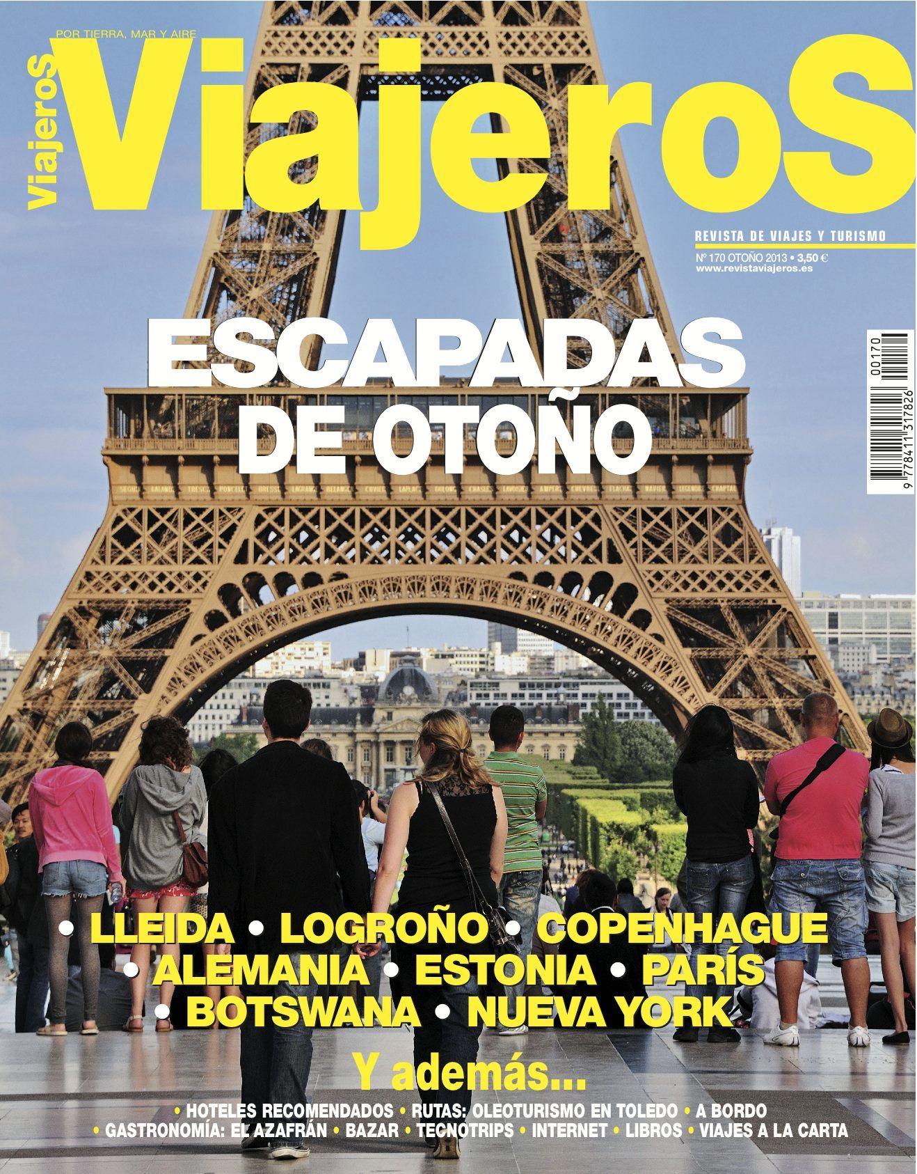 Portada de la Revista Viajeros, edición 170. Escapadas de Otoño 2013.