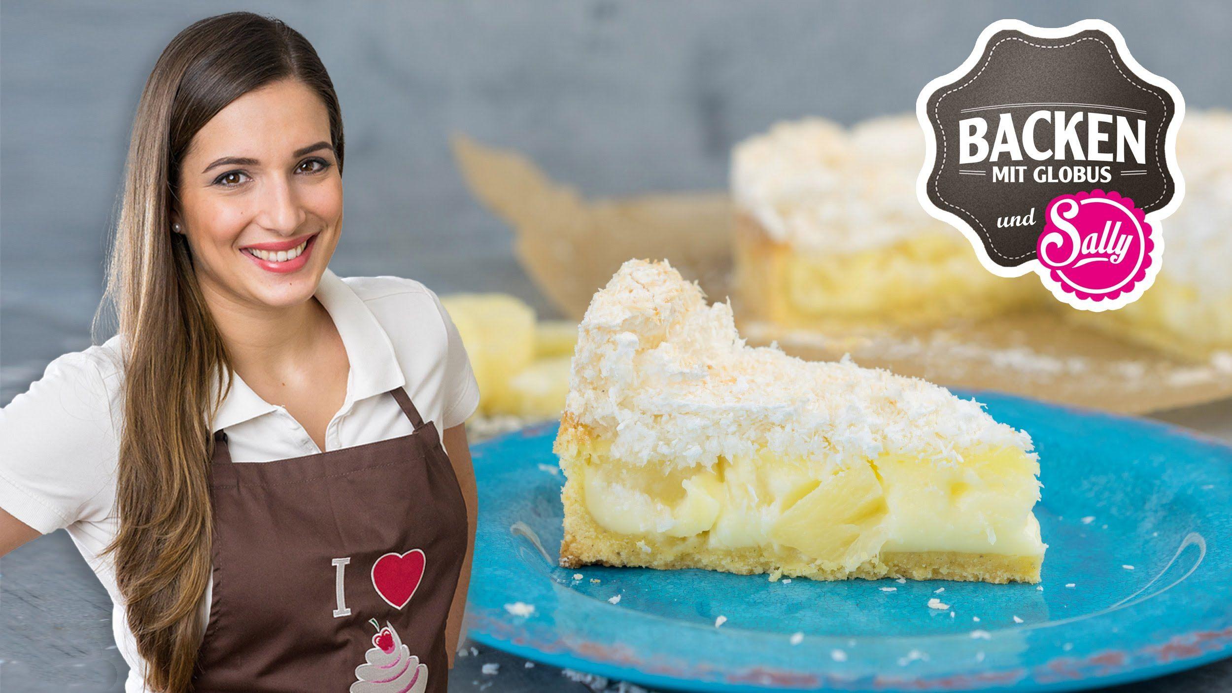 Exotische Kokos Ananas Torte Backen Mit Globus Sallys Welt 9