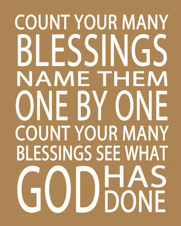 Count Your Blessings -hymn lyrics - digital printable word art ...