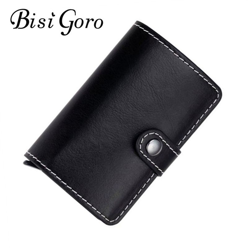 BISI GORO 2017 women men\'s pu leather credit card holder cases card ...