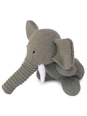Free Knitting Pattern Toys Dolls Stuff Animals Toy Elephant