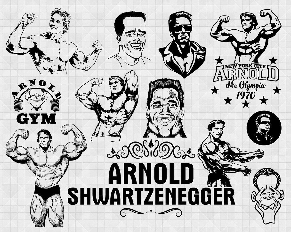 Arnold Schwarzenegger Svg Schwarzenegger Svg Svg For Cricut Arnold Schwarzenegger Arnold Clip Art Arnold Vector Schwarzenegger Svg In 2020 Business Design This Or That Questions Instant Download