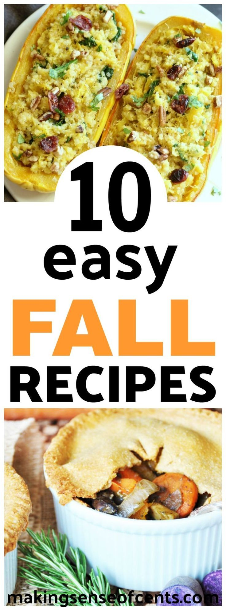 10 Easy Fall Recipes - Best Fall Dinner Ideas For Your Meal Plan images
