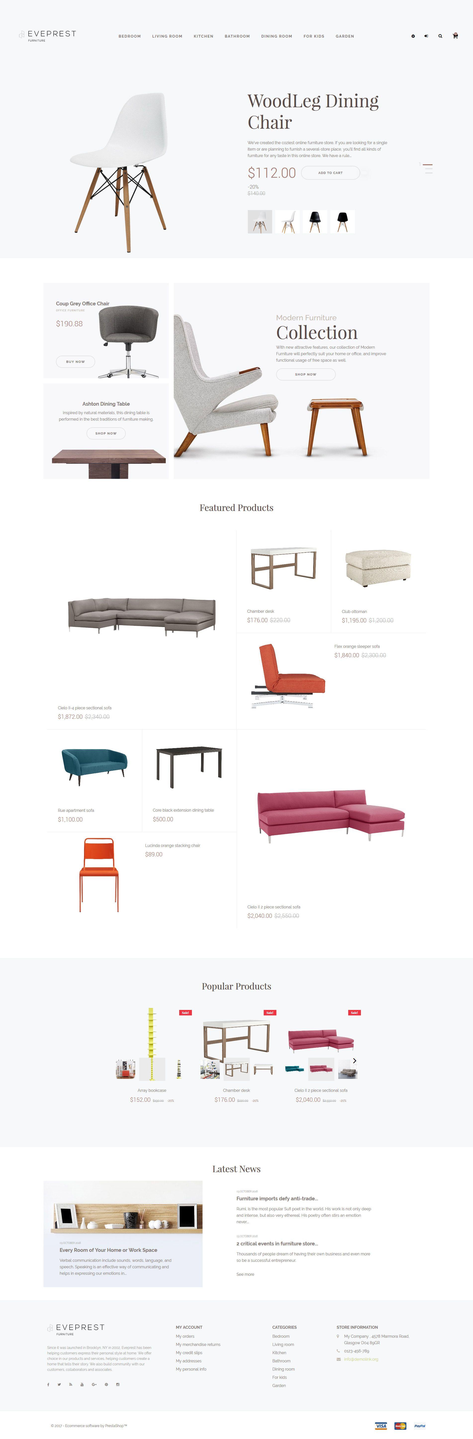 Eveprest Furniture Store PrestaShop Theme