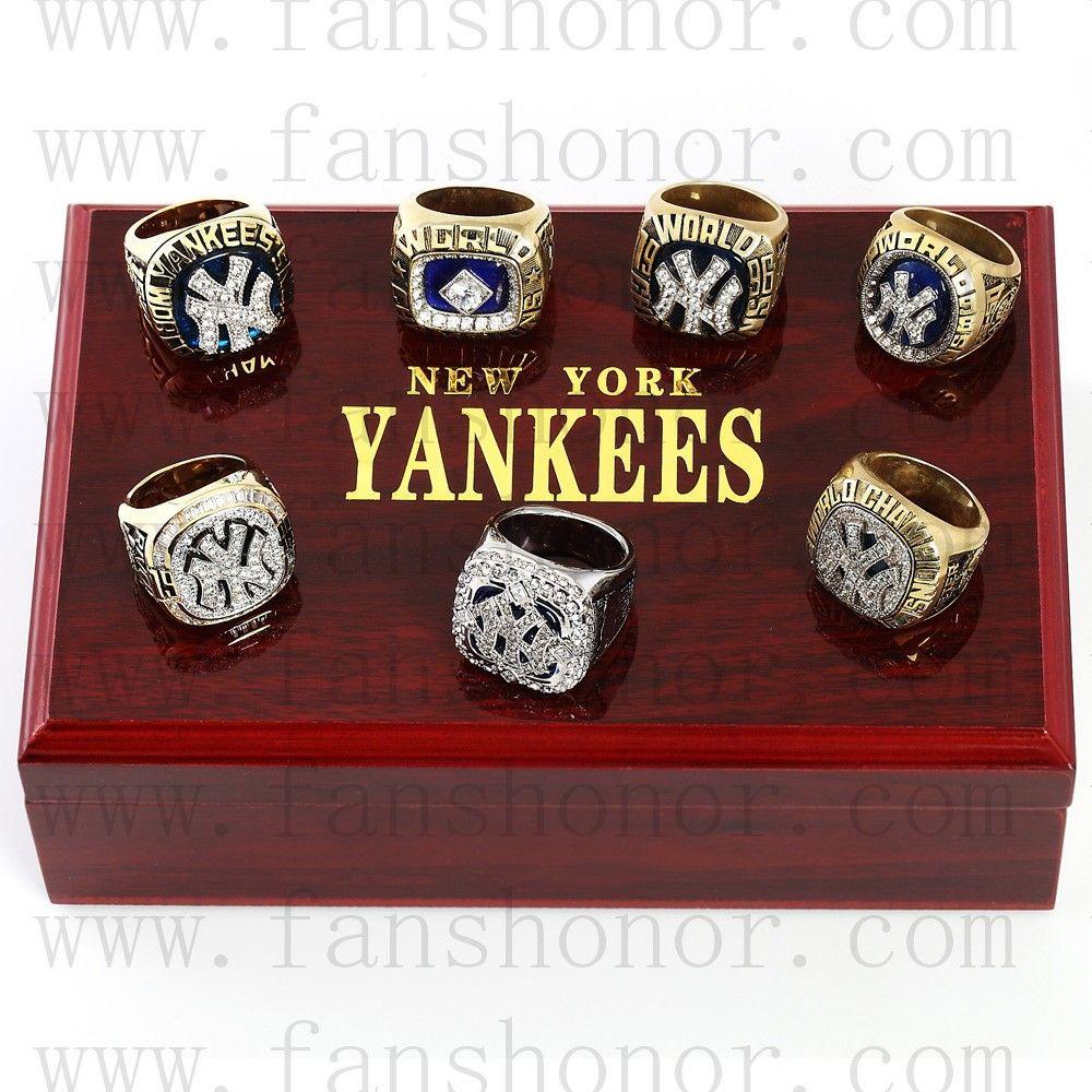 New York Yankees Mlb Championship Rings Set Wooden Display Box Collections Baseball Yankees World Series Wooden Display Box Championship Rings