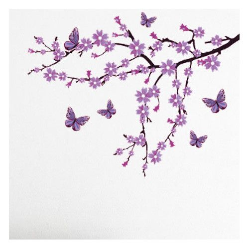 Found it at Wayfair - Lilac Blossom Branch Wall Decal