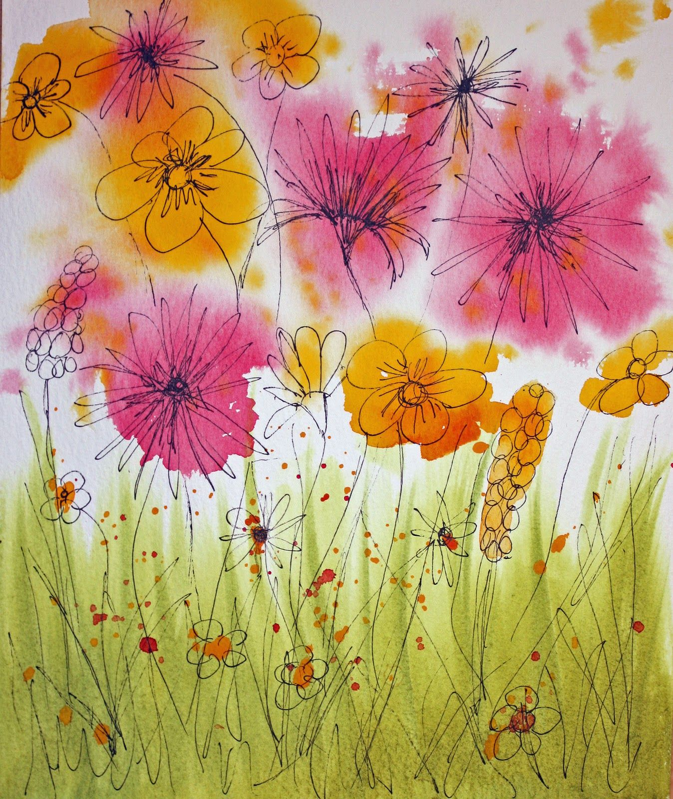 Painting Wild Flowers With Wet Watercolours Watercolor Flowers