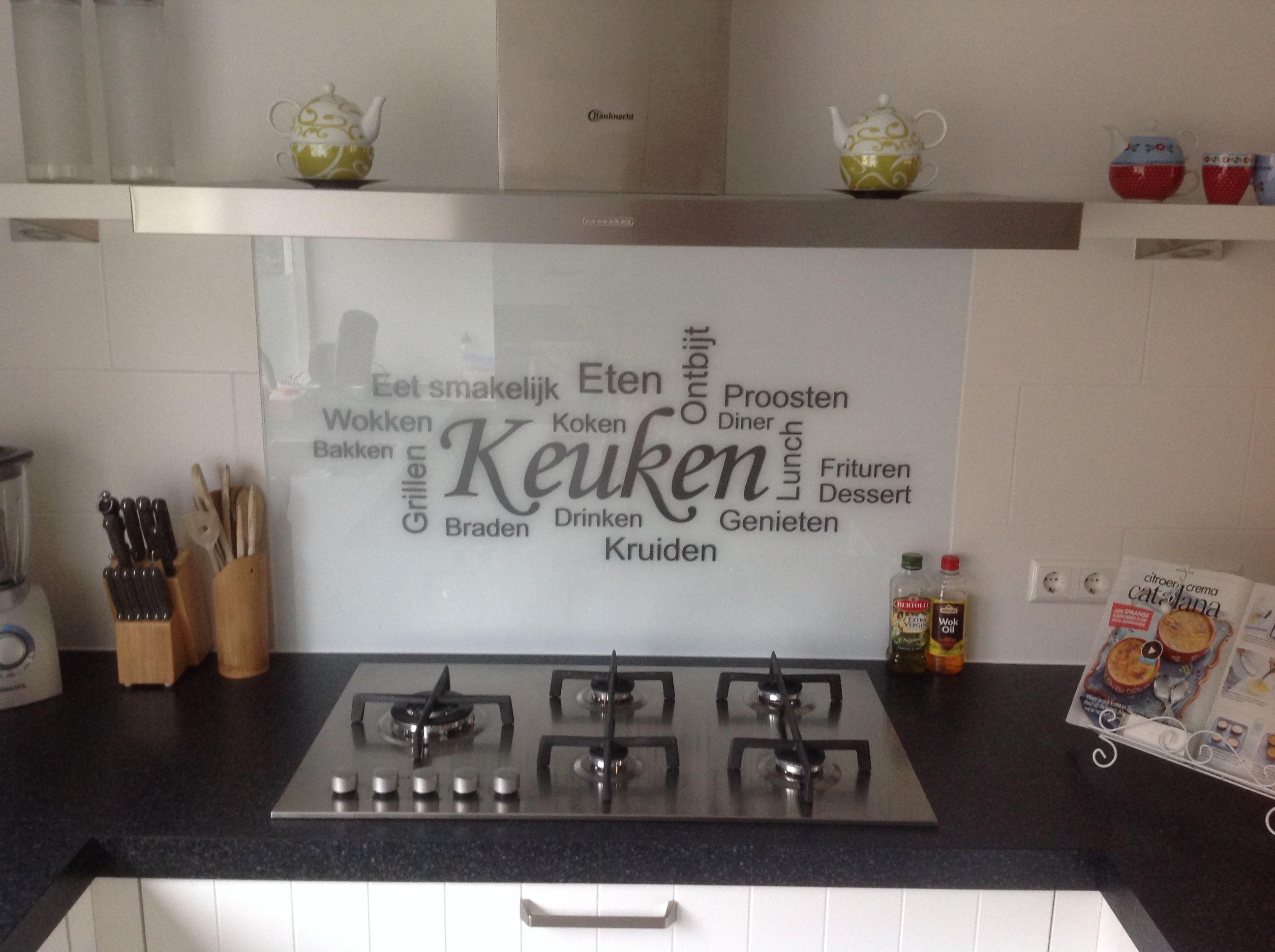 Glazen Spatwand Keuken Keuken Keuken Plafonds Keuken Idee