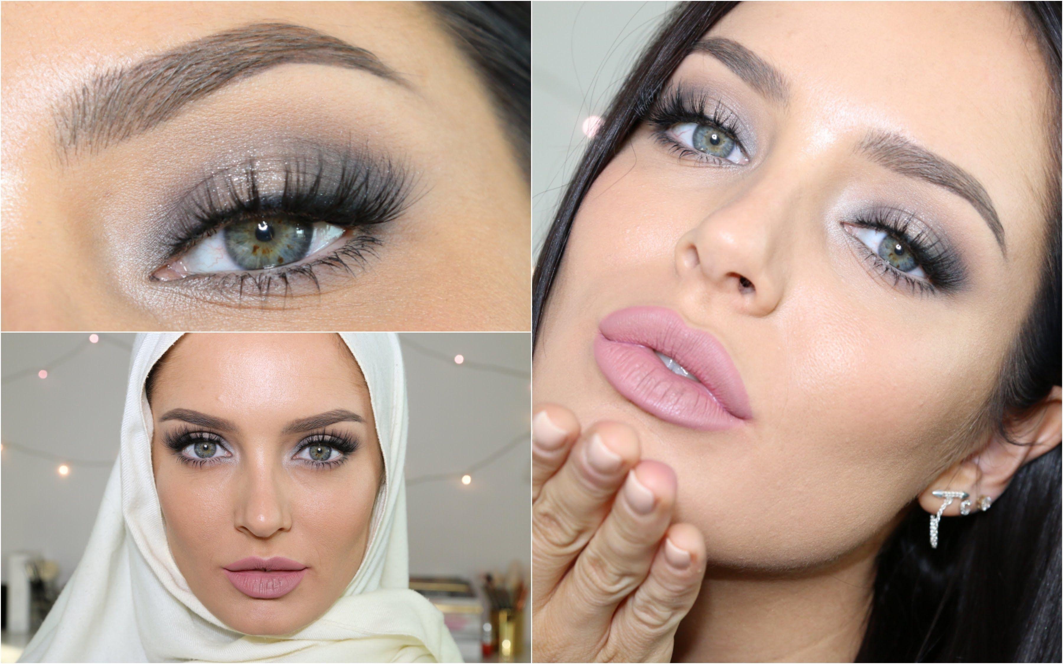 Eid Makeup Tutorial Soft Glam Look With Cool Tones Smokey Eye