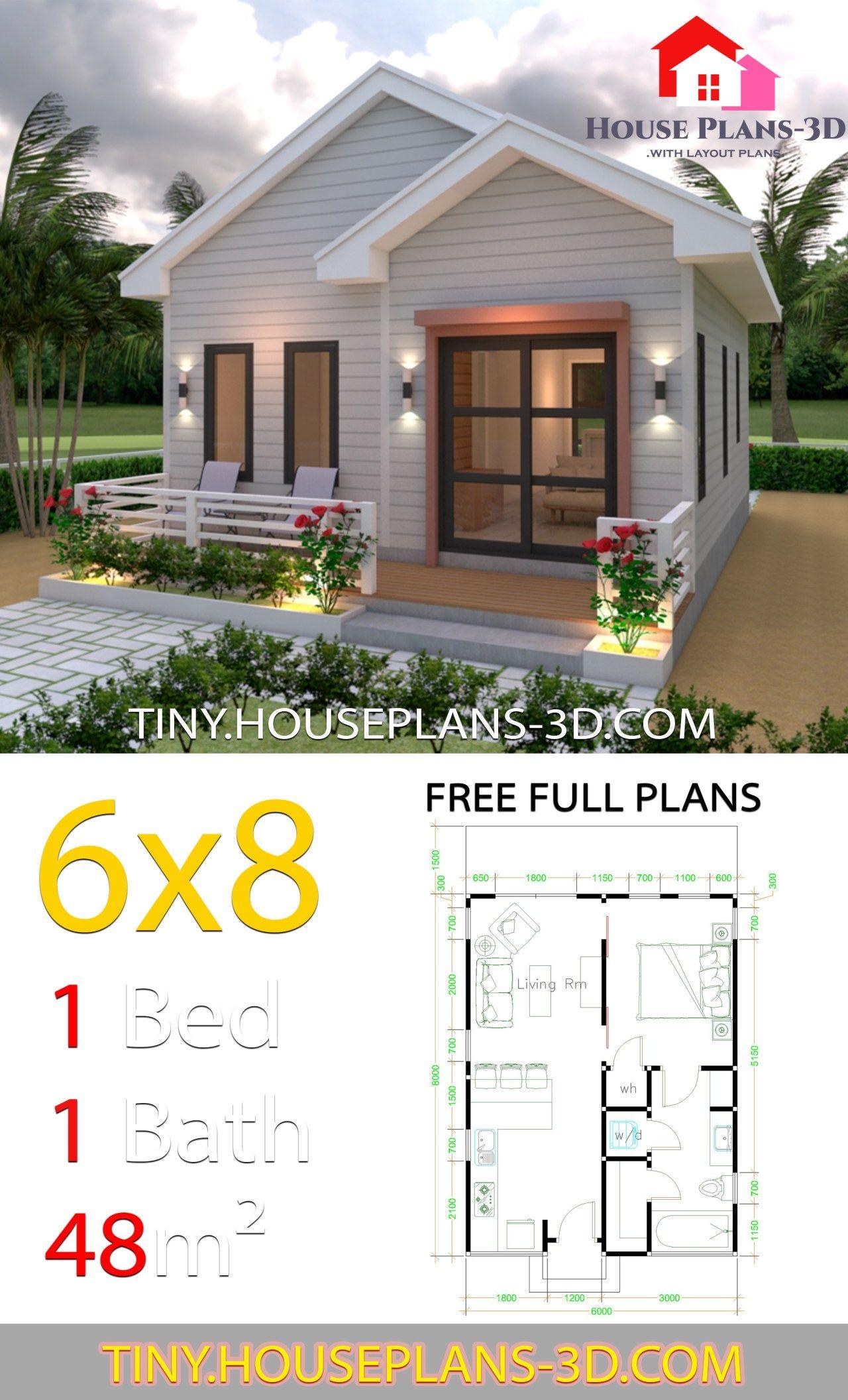 Studio House Plans 6x8 Gable Roof Tiny House Plans Simple House Plans Small House Plans Tiny House Design