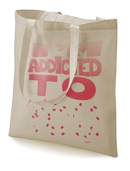 "Stoffbeutel ""Addicted to you""  von MAD IN BERLIN auf DaWanda.com"