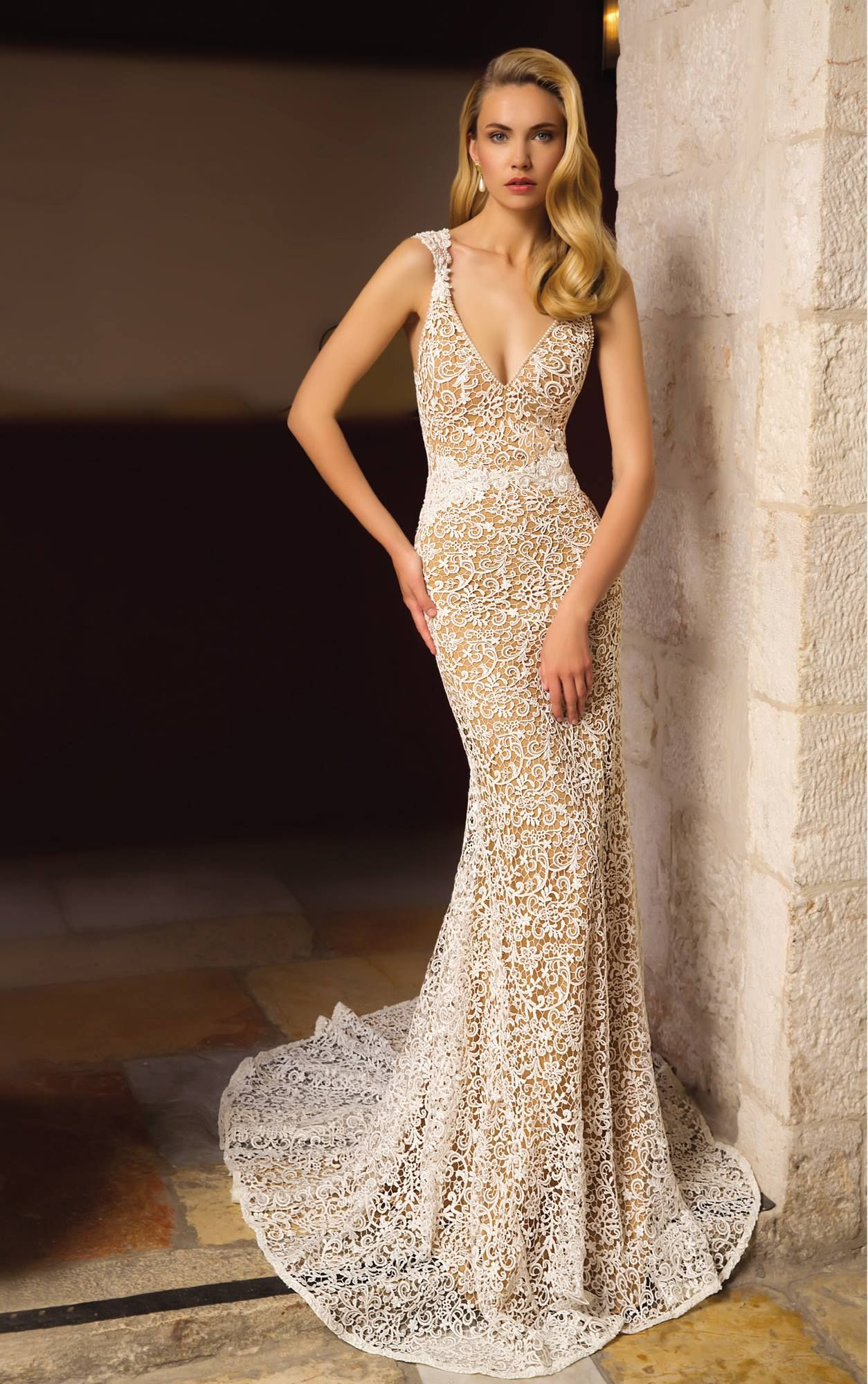 A slim, elegant bridal look from Orabella. See more from this ...
