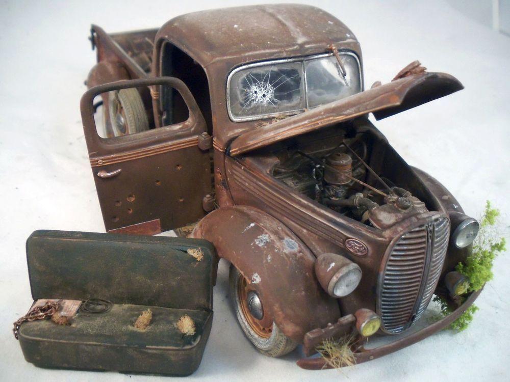 1938 Ford Pickup Truck Danbury Mint Barn Find Custom Weathered