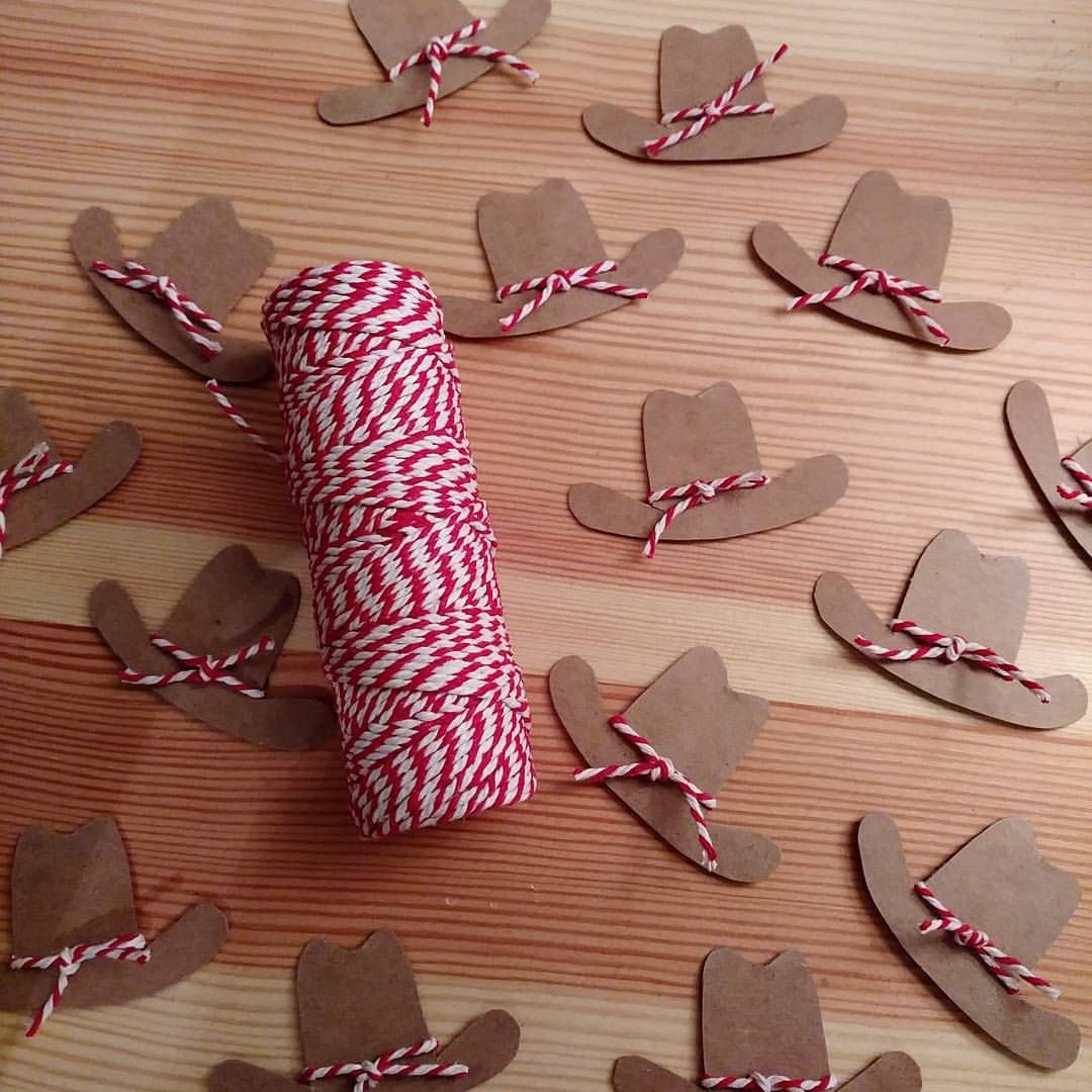 """Lisa Frank on Instagram: """"Tiny cardboard cowboy hats for candy wands!  Yeehaw! #cowboyparty #cowboyhat """" #cowboysandcowgirls"""