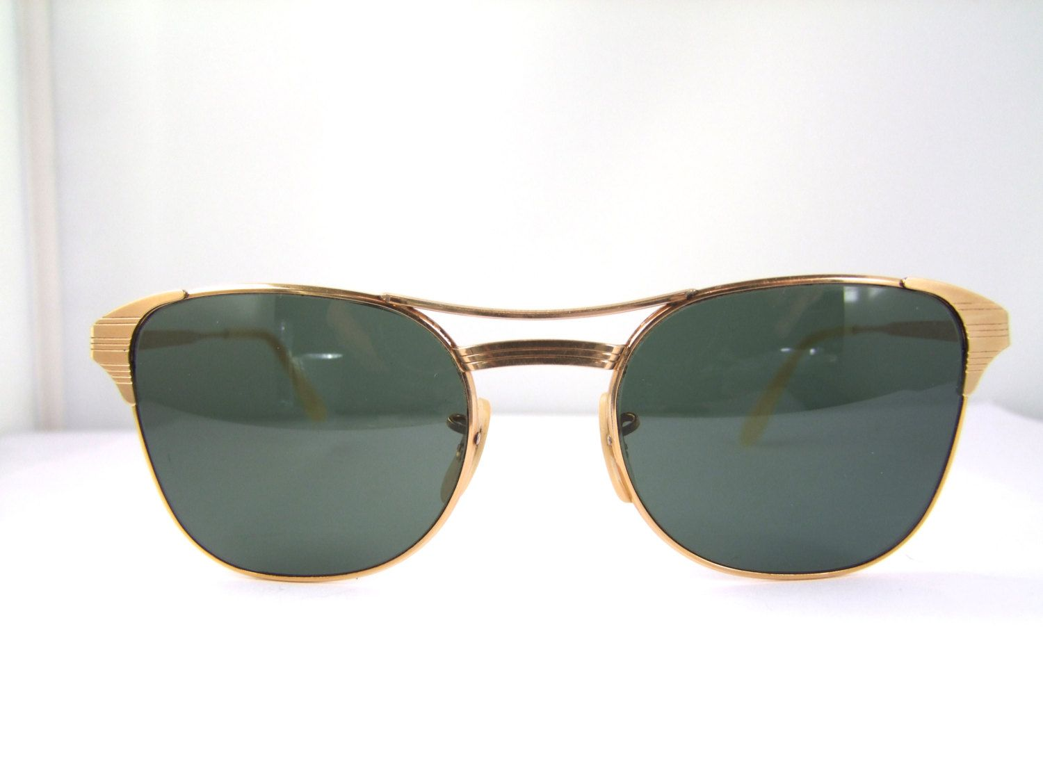 ray ban sunglasses made in usa  1960s Gold filled Vintage Ray Ban Signet Made in USA /ray ban ...