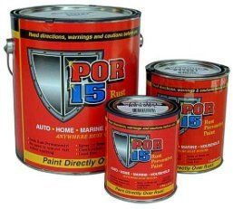 POR-15 Rust Preventive Paint. Recommended by TCT FB posters for applying to the metal frame in camper restorations.