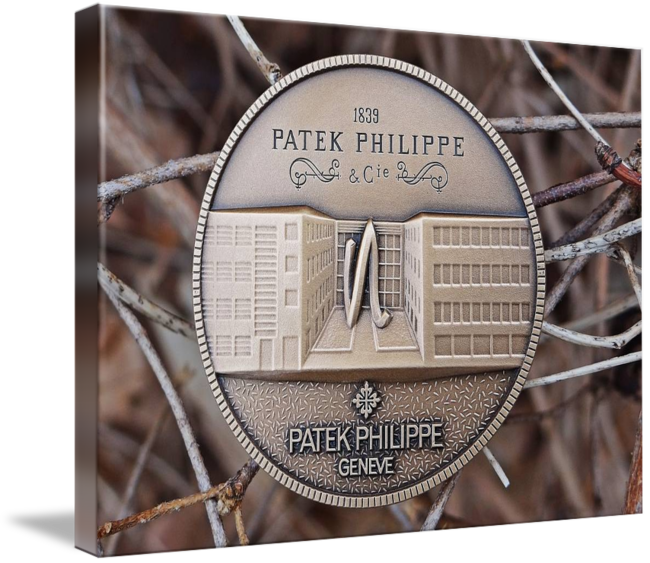 """Patek Philippe Geneve Commemorative Medal Coin $123 // Style: Soft Edge Canvas Print; Size: Large 23"""" x 32"""" // Visit http://www.imagekind.com/Patek-Philippe-Geneve-PPG_art?IMID=1dfdd1b3-f9f2-463b-894c-527202387dc6 for product details."""